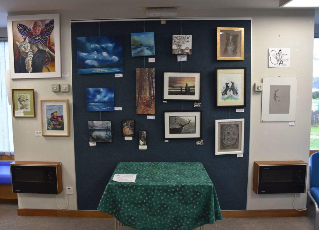 Arran Visual Arts exhibit at library