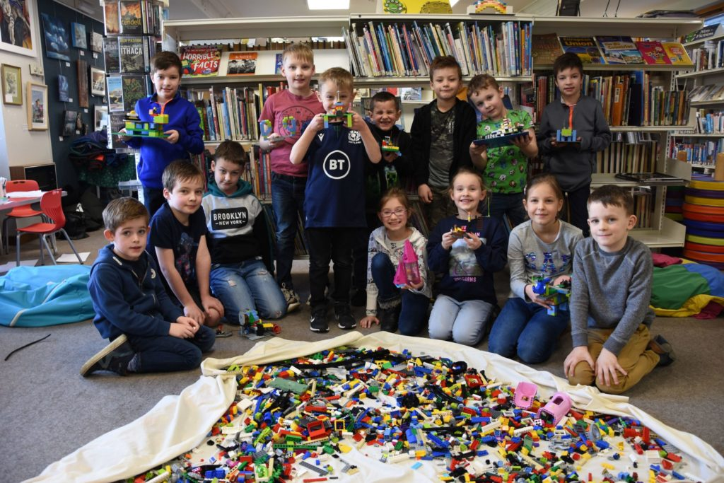 Library Lego challenge chock-a-block