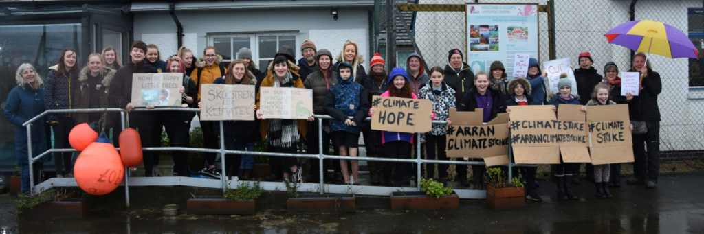 Arran plays its part in global climate strikes