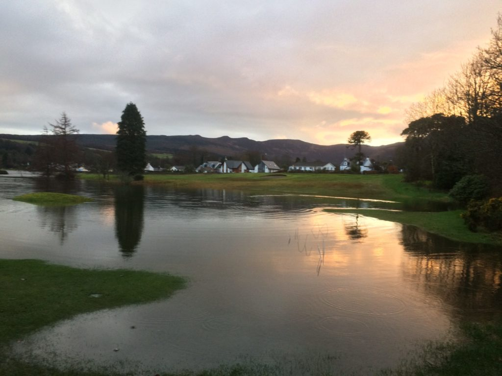Storm flooding can't stop play at Brodick