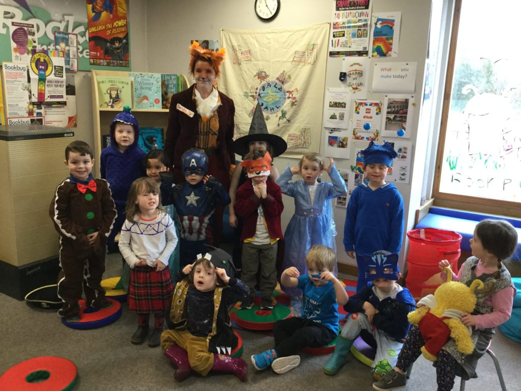 Tots dress up for World Book Day