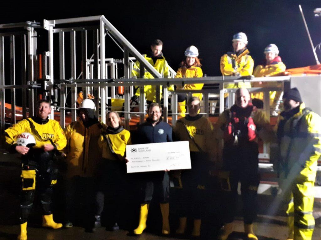 Salmon company donation to Arran RNLI