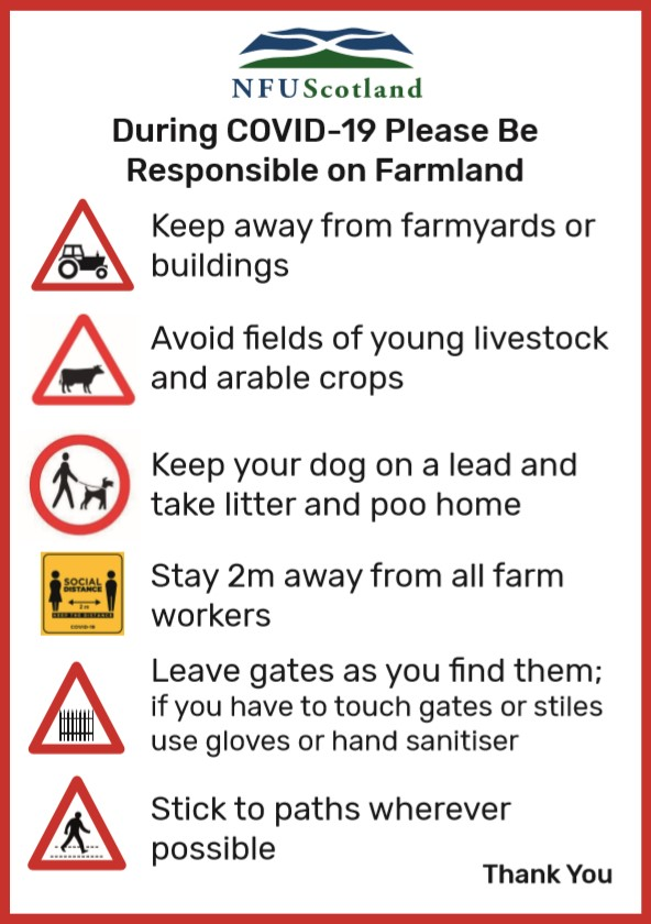 NFU issues reminder on responsible access