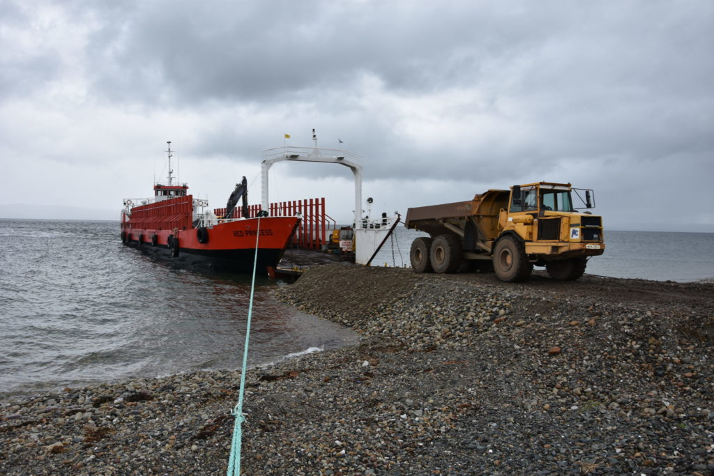 Rock armour shipped in to save Pirnmill seawall