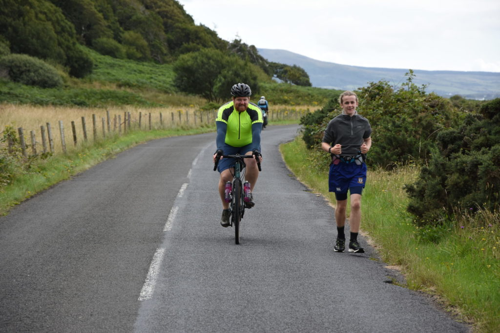 Andrew raises £1,500 on his run round Arran