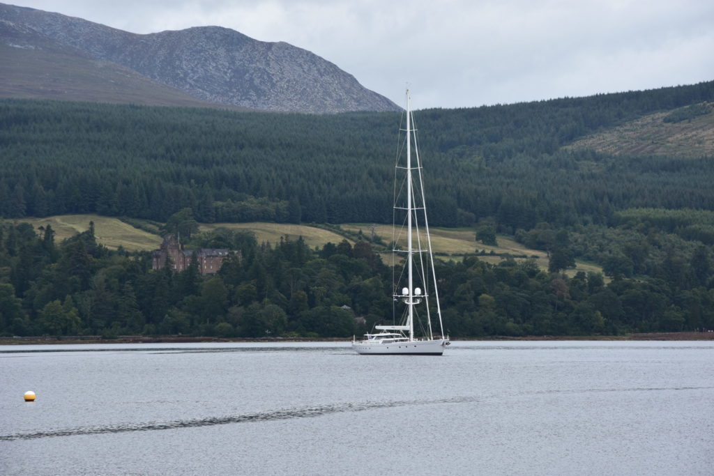 Super-yacht visits Brodick
