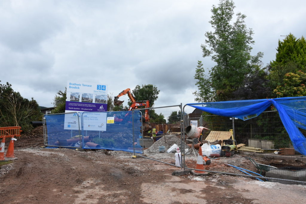 Residents anger at Brodick construction site disruption