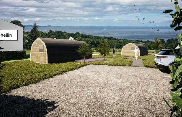 Glamping pods plan for Corriegills