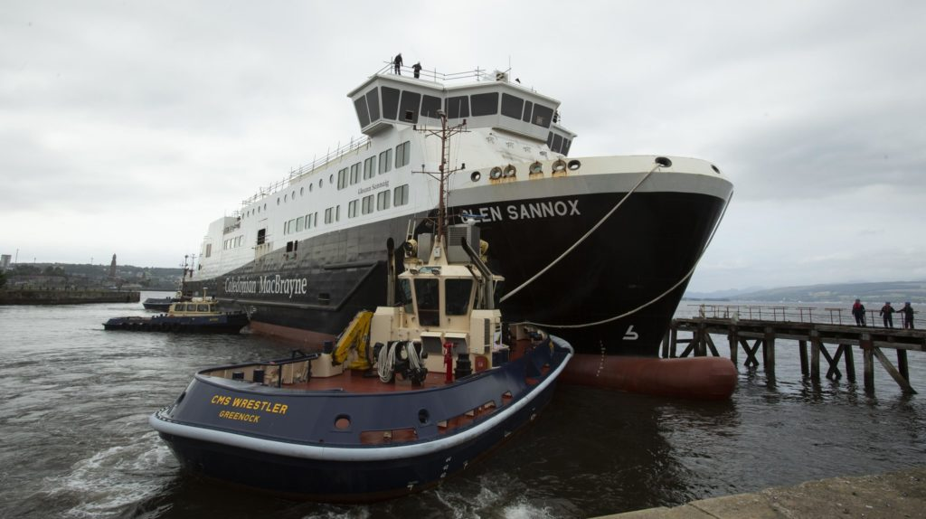 Arran ferry goes into dry dock