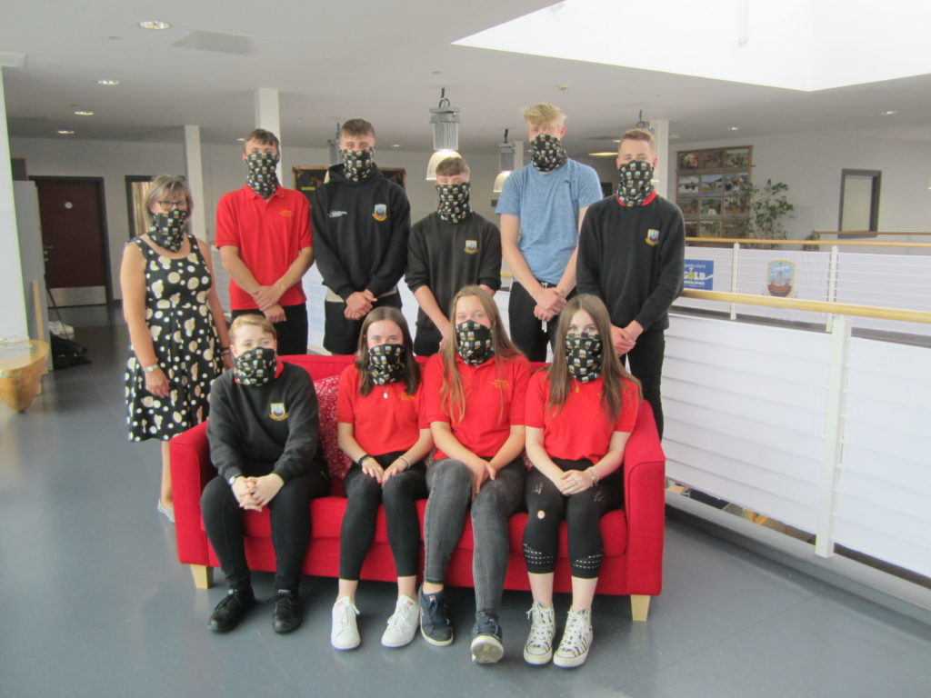 Business fundraiser provides face covering for school pupils