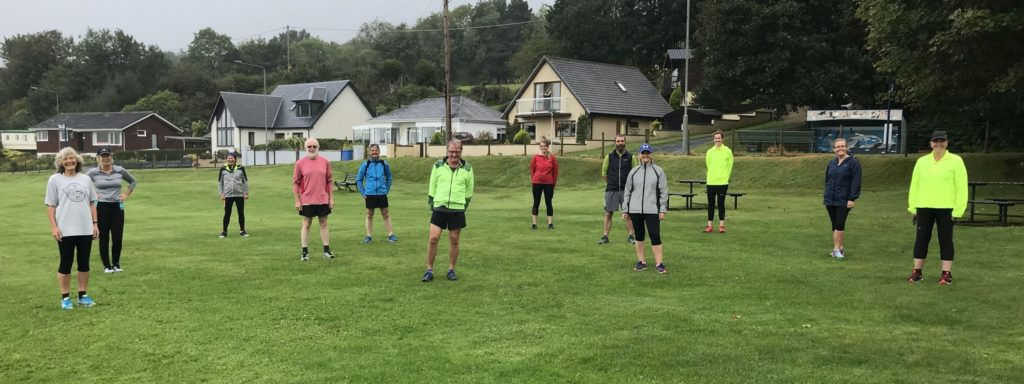 Groups back running together while staying safely apart