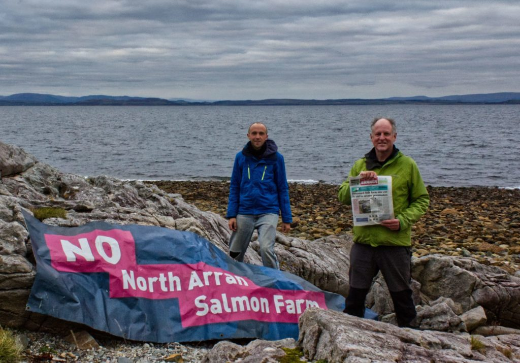 Arran fish farm campaigners camp out in creative protest