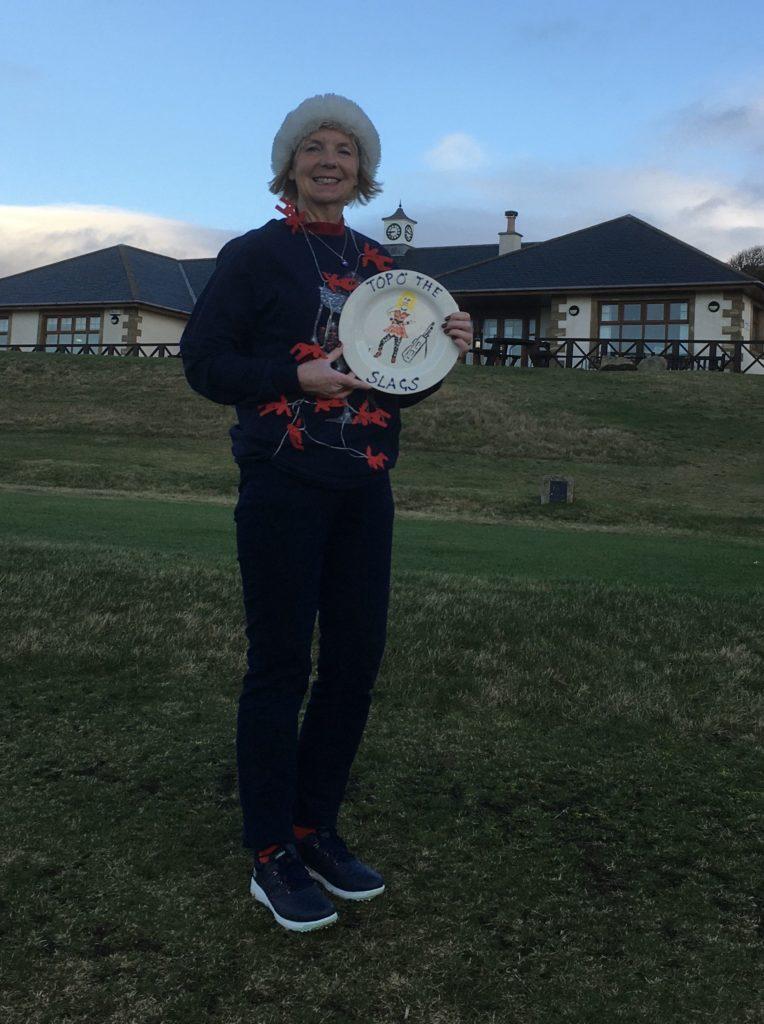 Alice lifts ladies tour trophy at Shiskine