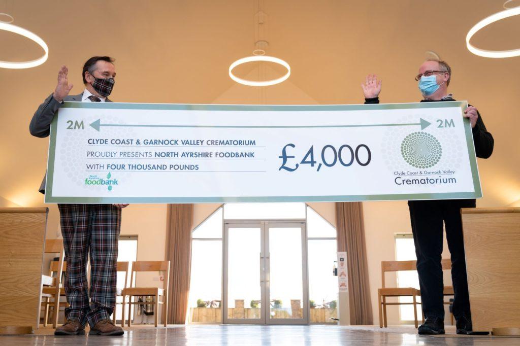 Donation boost for North Ayrshire Foodbank