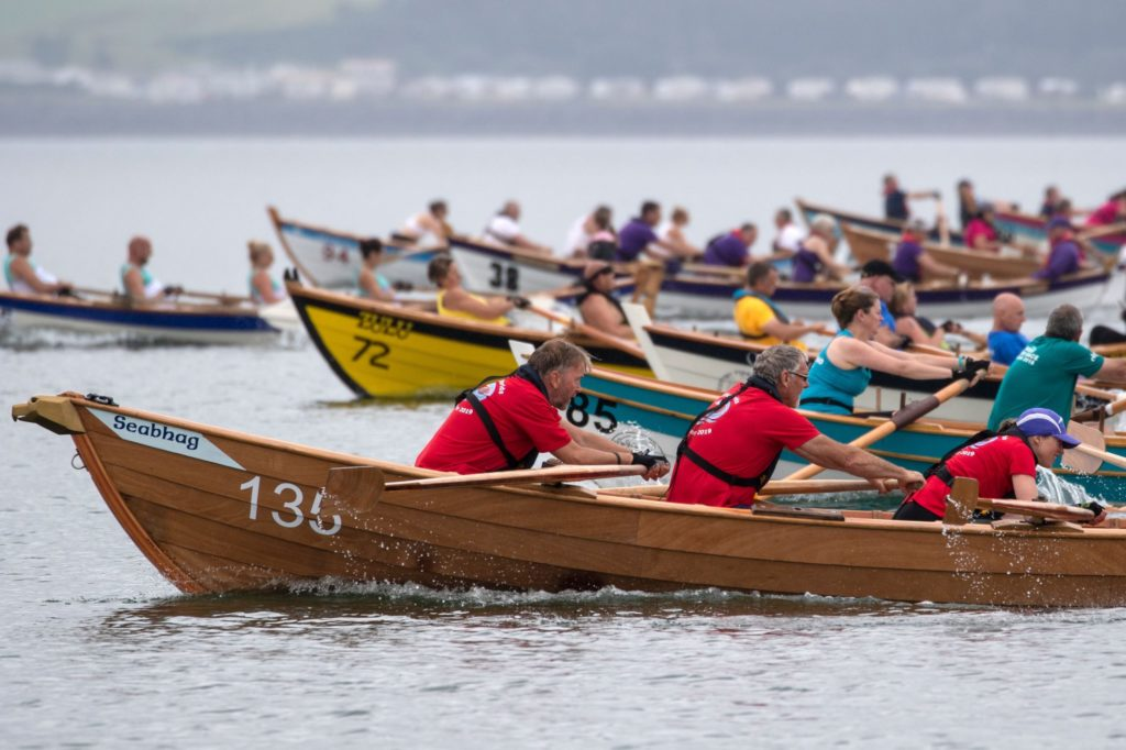 Coastal rowing club get back into the water