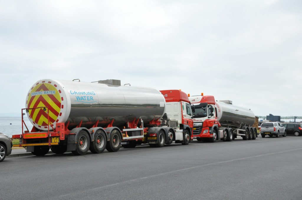 Tankers deliver water to cope with demand on Arran