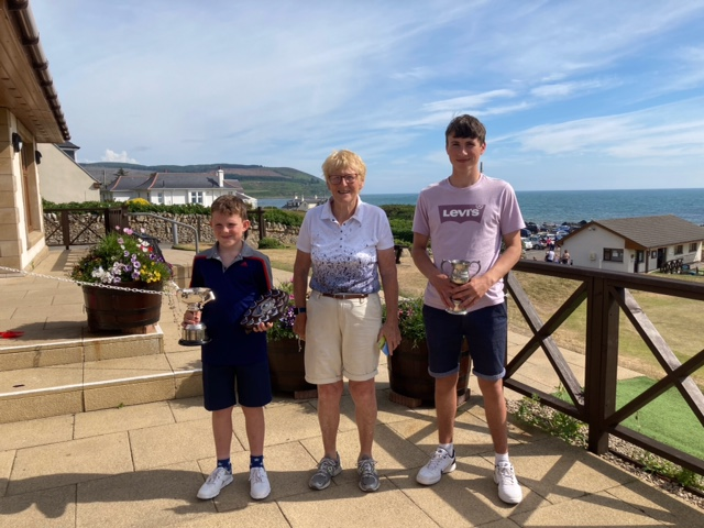 Rory and Jack lift trophies at junior championship