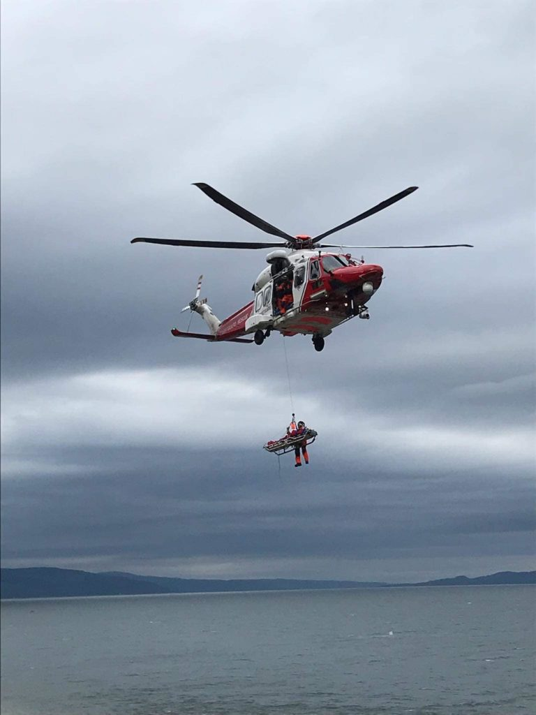 Air support needed for island rescues