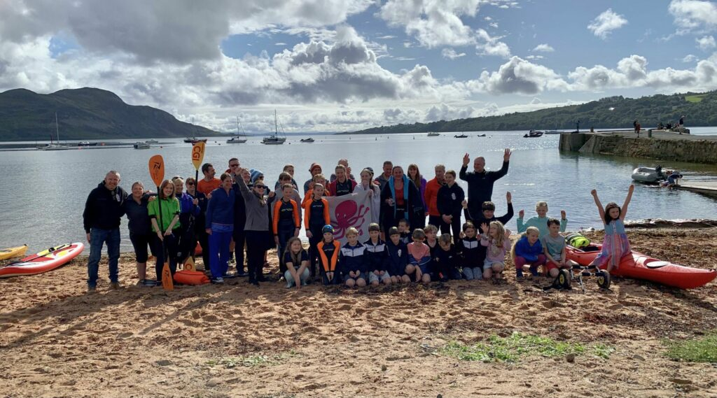 Arran mermaid completes 24-hour swim challenge for charities