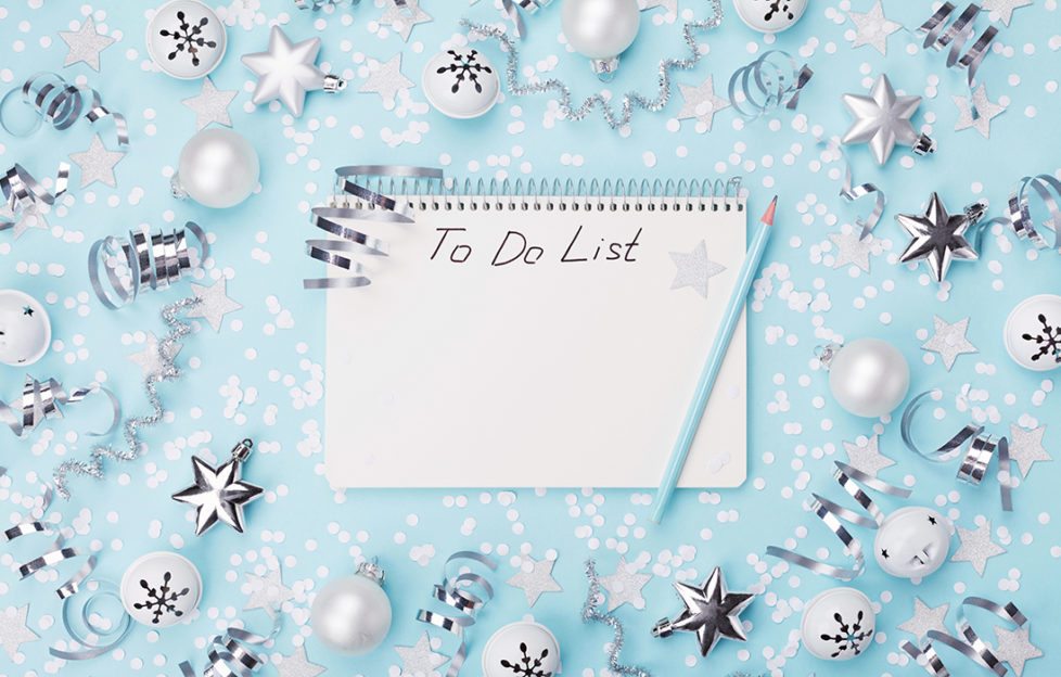 Christmas to do list Pic: Istockphoto