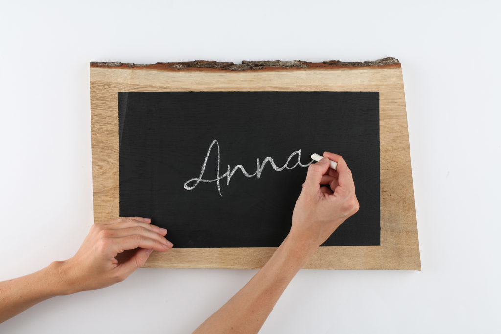 Step 4 chalk on your message