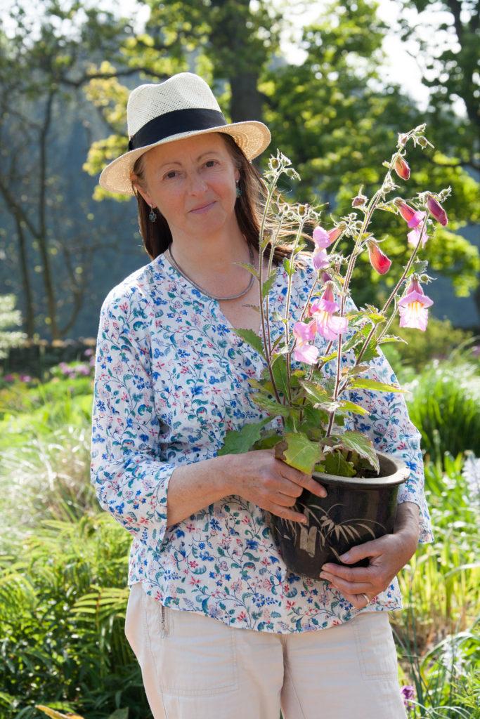 Susie White in her garden.