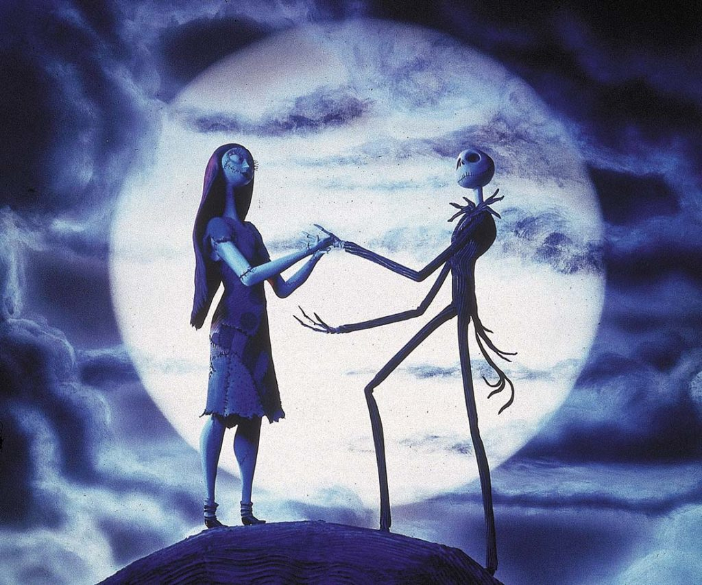 Jack and Sally The Nightmare Before Christmas Copyright: Disney