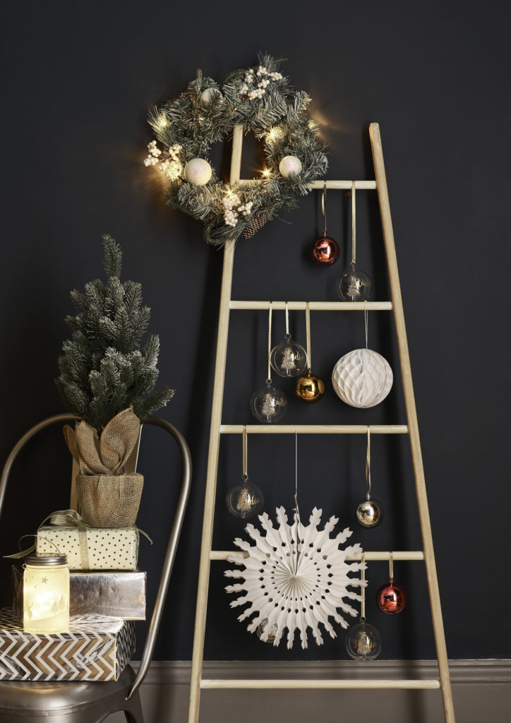 Studio ladder with decorations