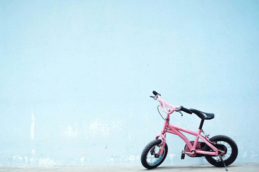Pink girl's bicycle