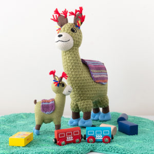 Llama knitted toys