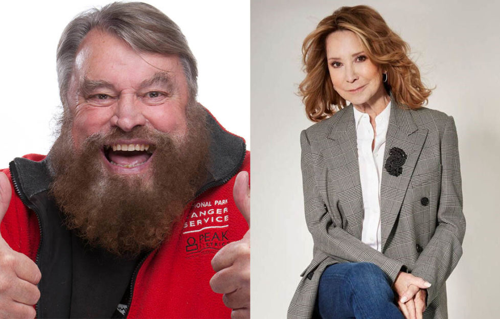 Actor Brian Blessed giving thumbs up, and actor Felicity Kendal smiling. Both will give readings at a charity carol service.