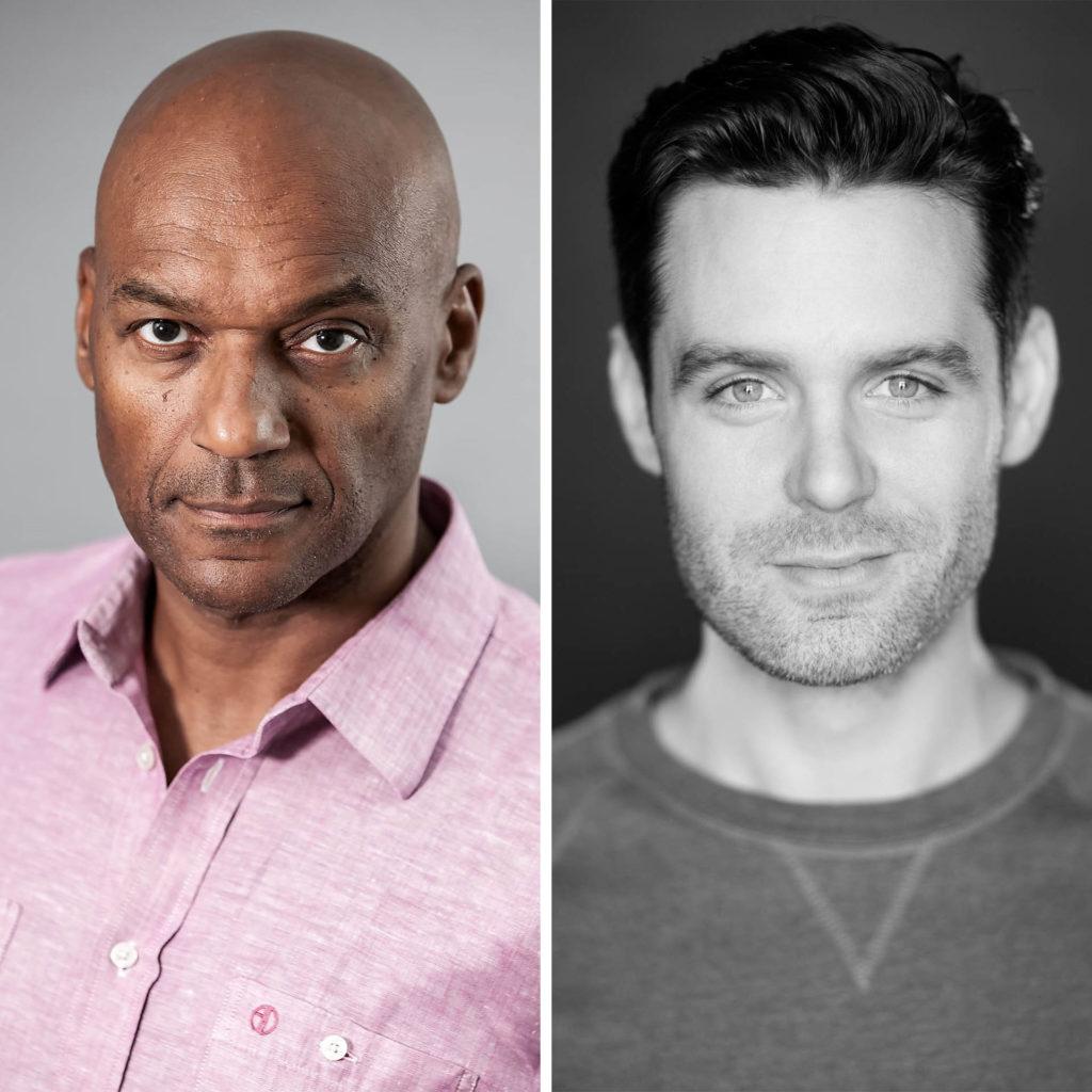 Portrait shots of actors Colin Salmon and Luke Norris