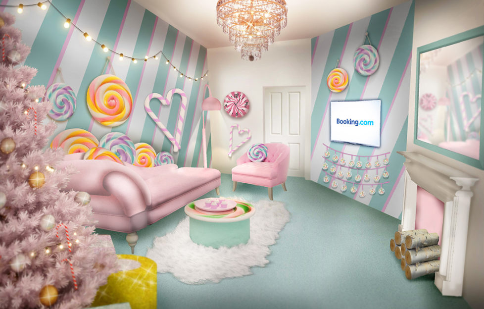 Living room of Candy Cane House