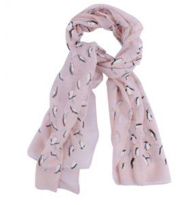 pink penguin scarf