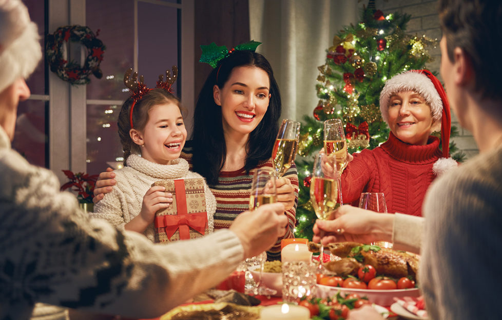 A family at Christmas Pic: Shutterstock