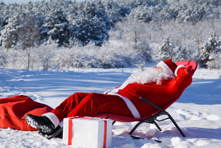 Santa having a rest Pic: Shutterstock