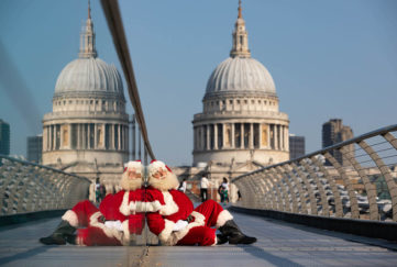 Santa in London Pic: David Parry/PA Wire