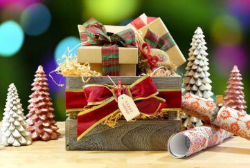Christmas gifts wrapped in a box Pic: Shutterstock