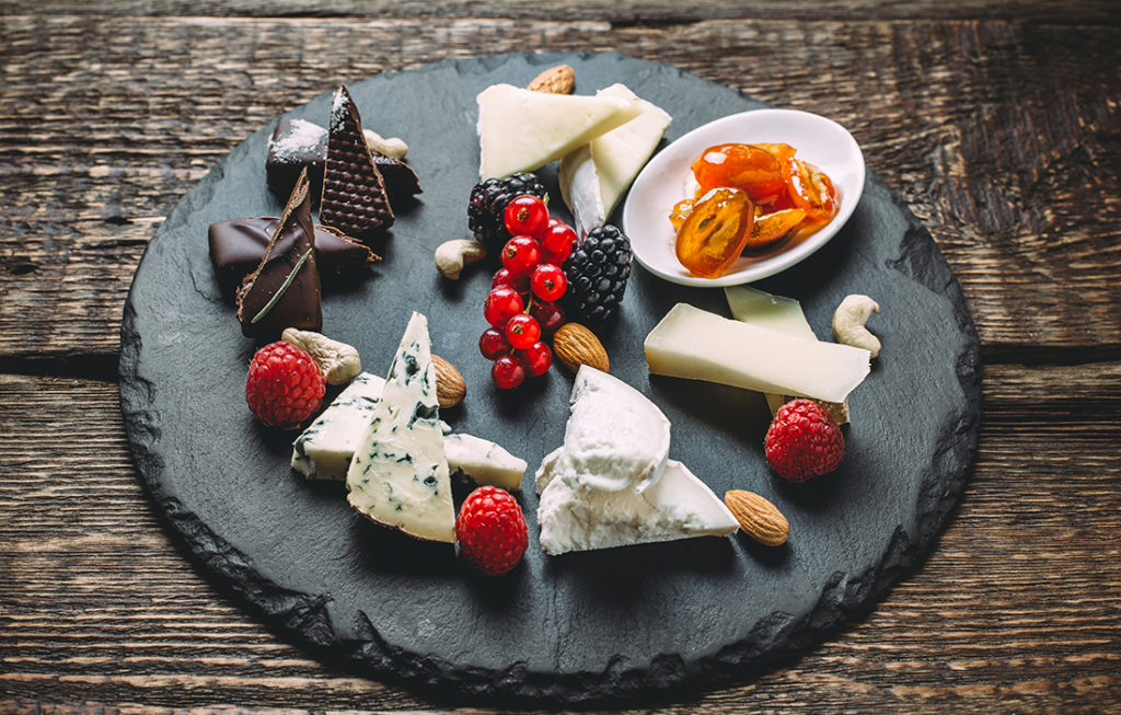 Chocolate and cheese board Pic: Shutterstock