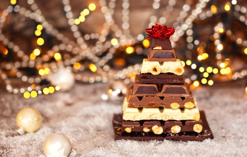 Chocolate pyramid in shape of a Christmas tree Pic: Shutterstock