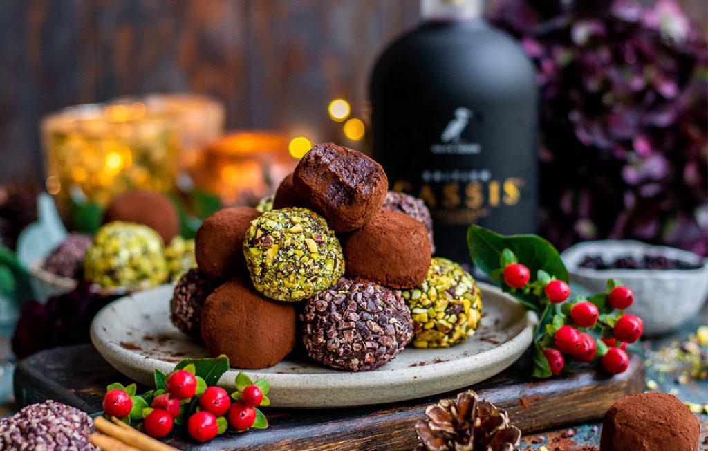 Boozy truffles