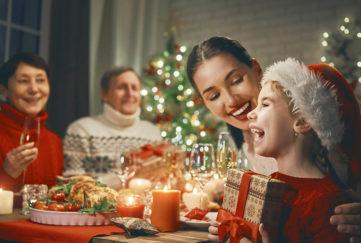 A family enjoying Christmas dinner Pic: Shutterstock