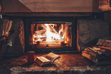 A cosy open fire Pic: Shutterstock
