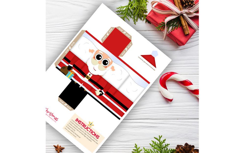 Santa paper pattern