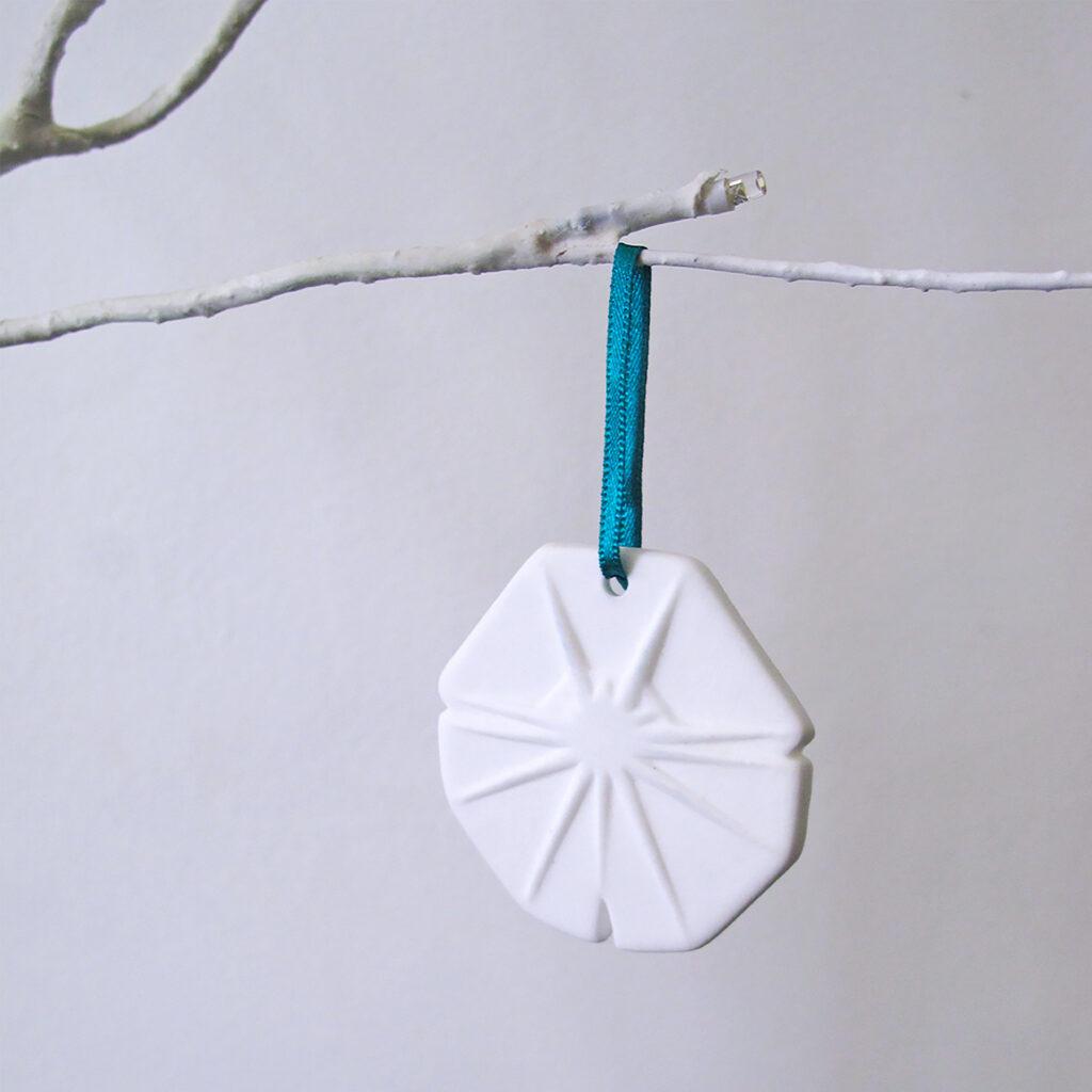 bone china snowflake christmas tree decoration