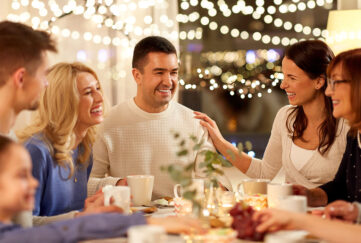 A family at home at Christmas Pic: Shutterstock