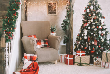 Beautifully decorated real Christmas tree Pic: Shutterstock