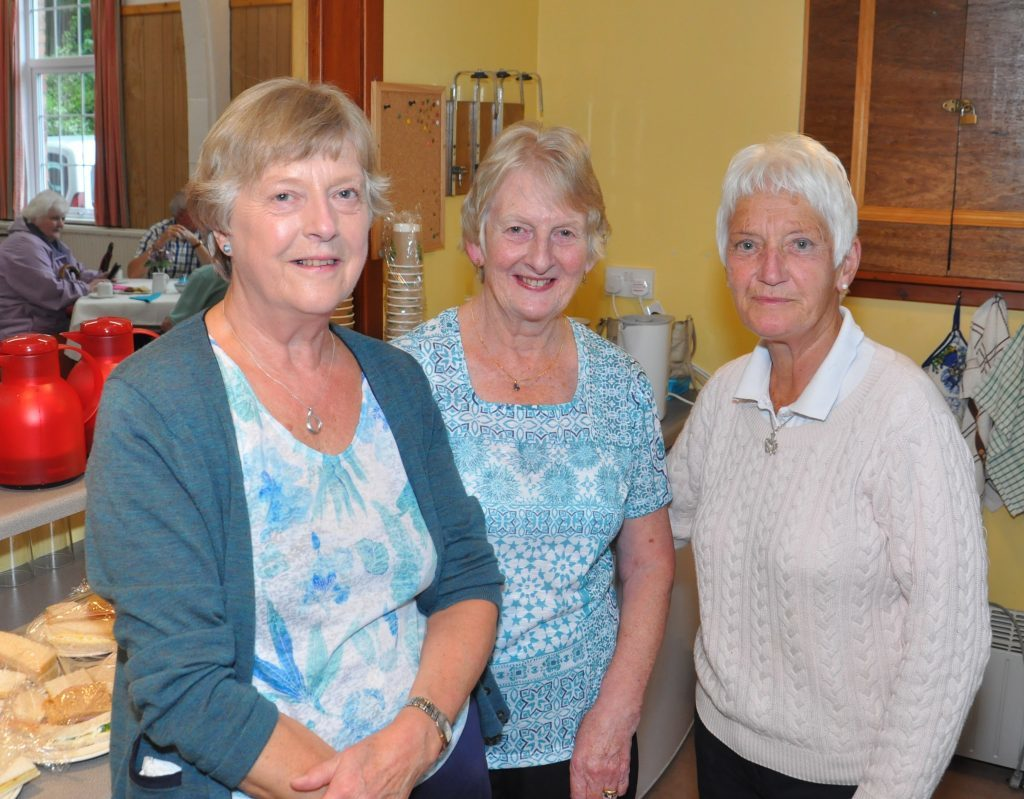 Mary Macalister Hall, Carole Abernethy and Sylvia Irvine worked hard in the kitchen. 20_c28carradale01_kitchen