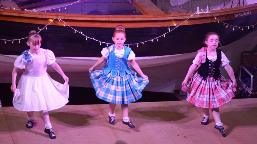 One set of Highland Dancers.