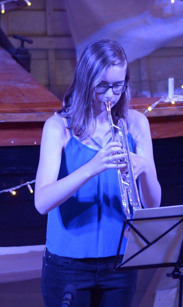 Trumpet player Erin McLellan
